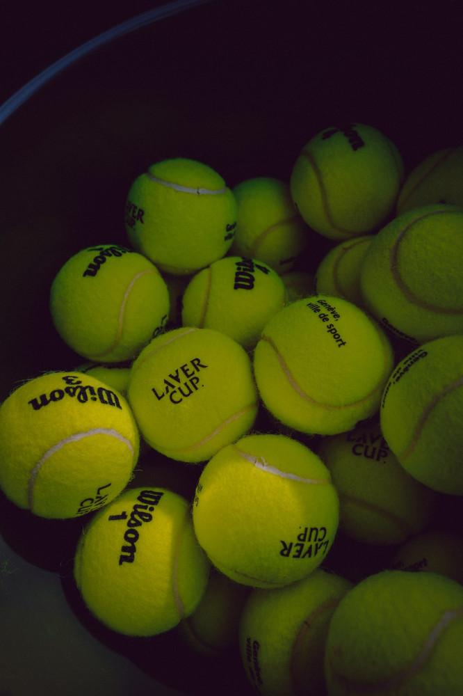 tennis balls in machine